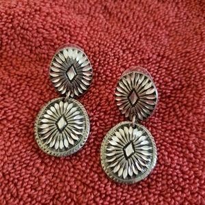 Concho earrings, western style